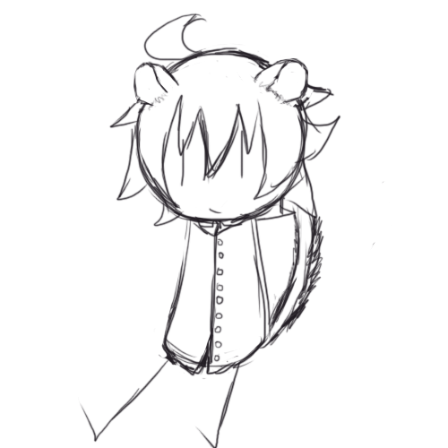 2016; I drew Dominick with dormouse ears and a tail cause I thought it'd be cute.