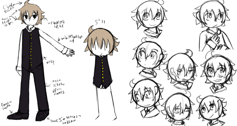 2016; Dominick's old character reference sheet, it's inaccurate.