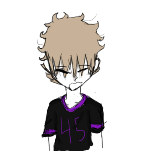 2015; Drawing of Dominick with bedhead now inaccurate, he just wakes up with his hair as is.