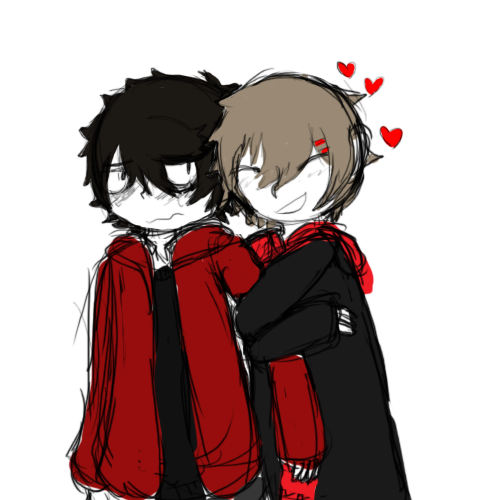 2016; Picture showing off Red's affection for Balt, has hairclips due to me thinking about adding them to his design though I've decided against it since